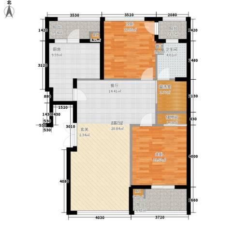 新浦江城2室0厅1卫1厨103.00㎡户型图