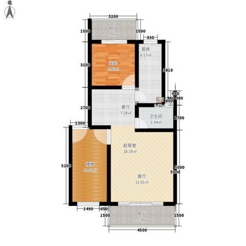 北门新苑1室0厅1卫1厨98.00㎡户型图
