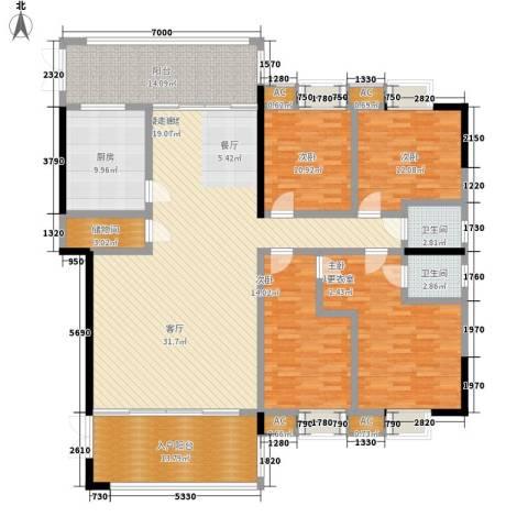 熙岸尚城二期4室0厅2卫1厨195.00㎡户型图