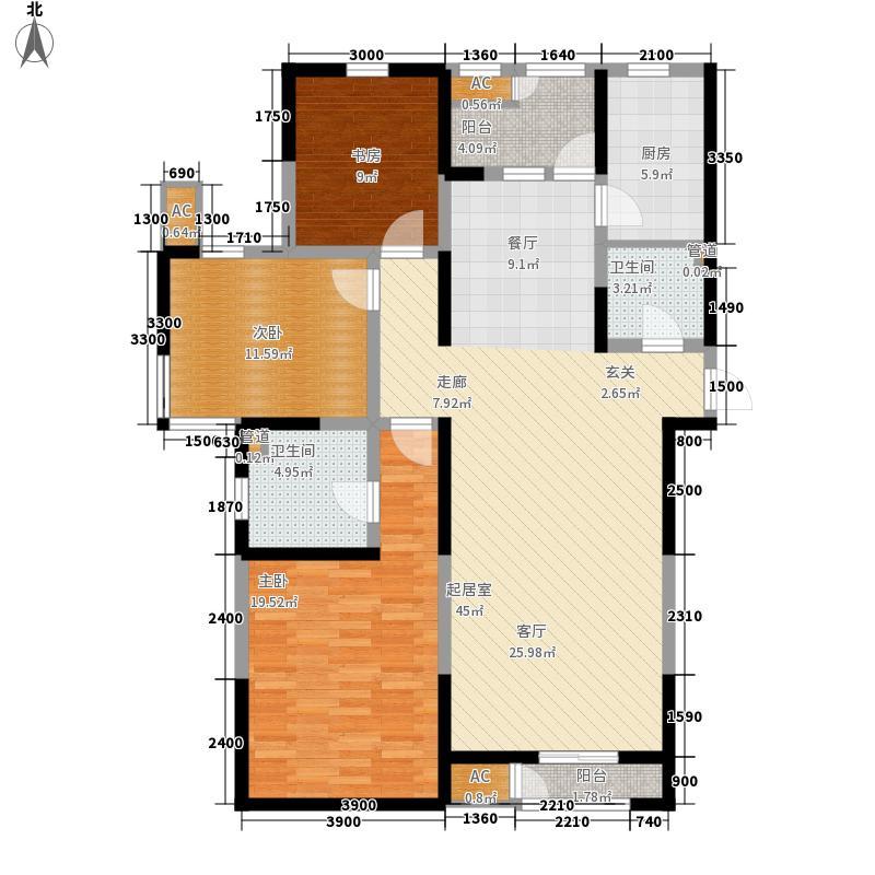 格调艺术领地151.00㎡高层10号楼标准层01户型