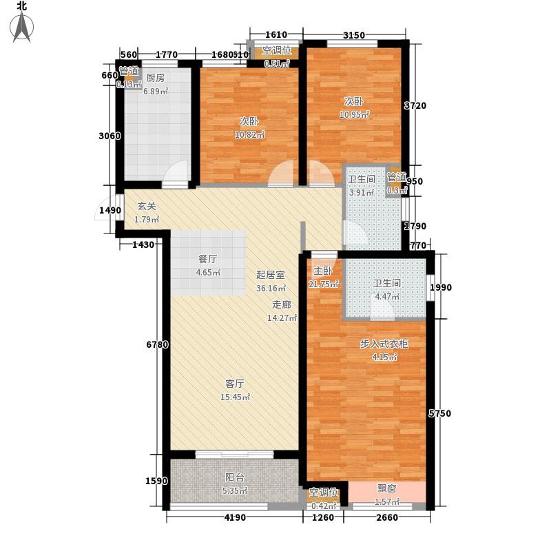 中海锦瓏湾116.00㎡中海锦�湾4#楼标准层C3户型