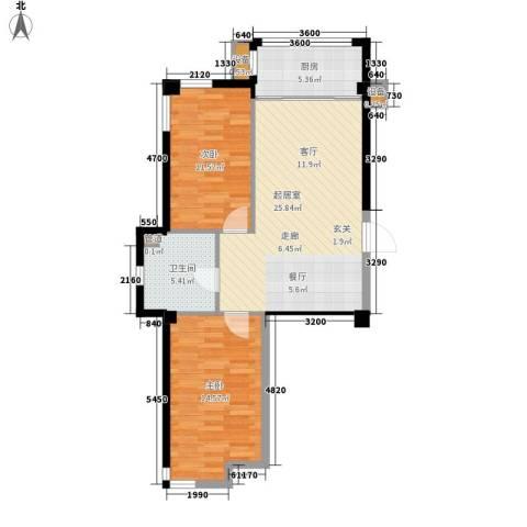 扬州城2室0厅1卫1厨89.00㎡户型图