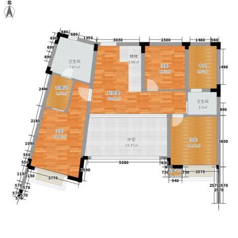 白金海岸3室0厅2卫0厨224.00㎡户型图