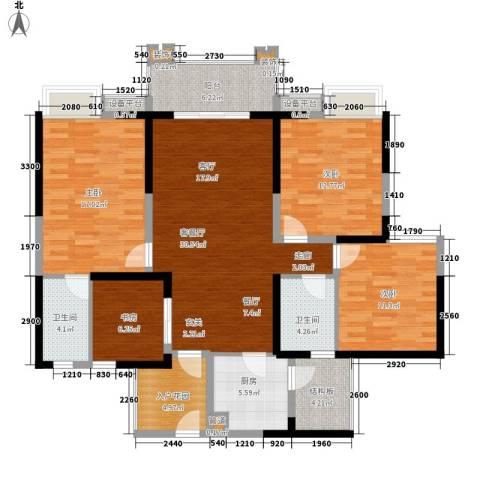 香江华府4室1厅2卫1厨125.00㎡户型图