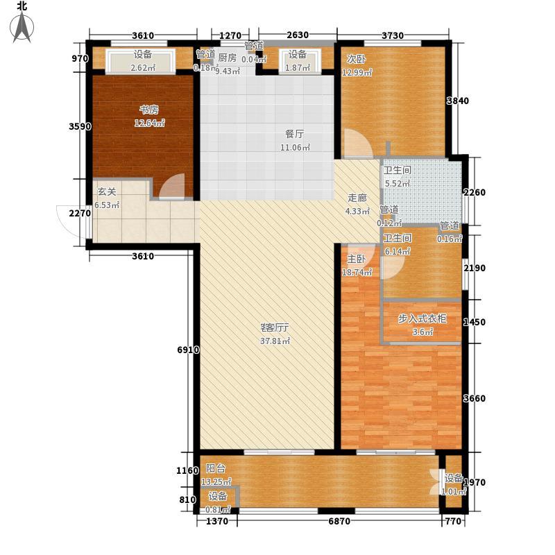 林荫大院164.00㎡二期14#16#C8户型3室2厅