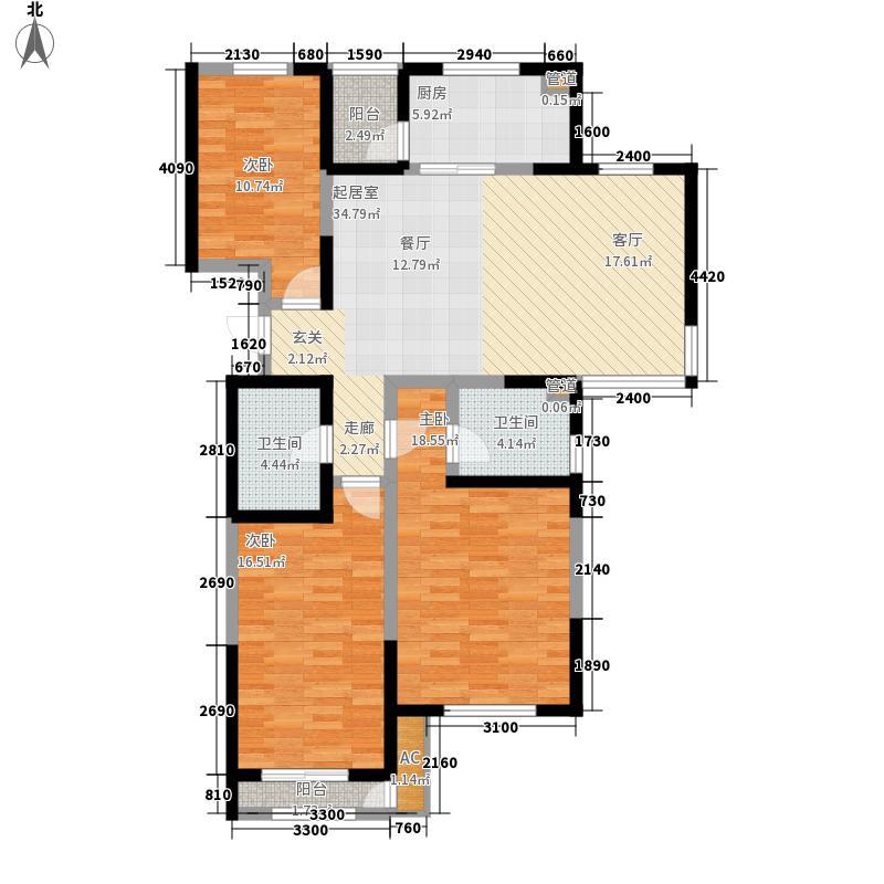 格调艺术领地146.00㎡二期10、11#楼标准层04户型