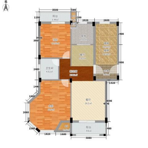 金谷鑫城三期2室1厅1卫1厨94.49㎡户型图