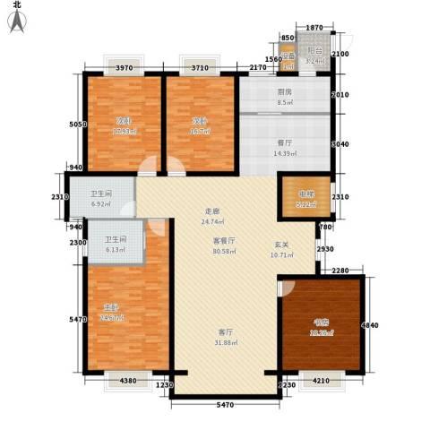 汇天嘉宇4室1厅2卫1厨261.00㎡户型图