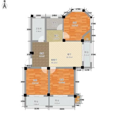 金谷鑫城三期3室1厅1卫1厨103.00㎡户型图