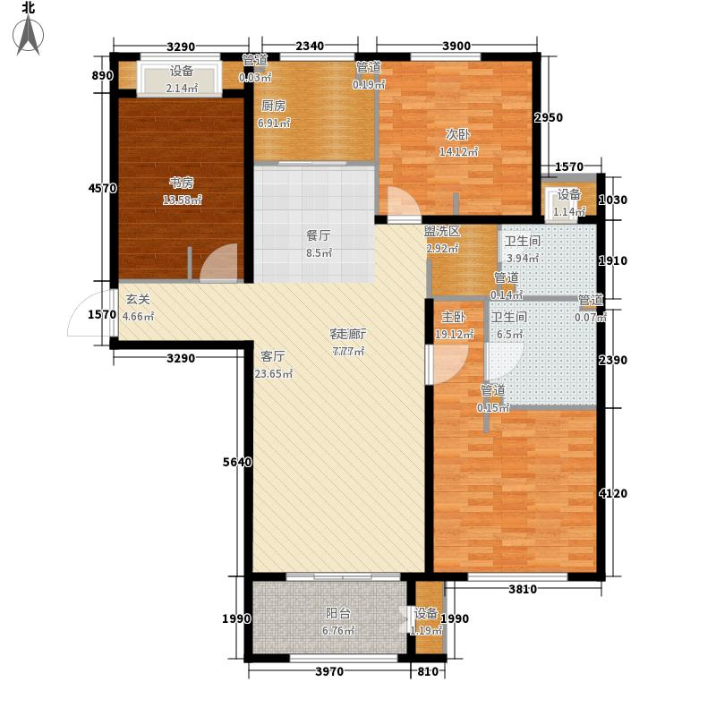 林荫大院137.00㎡C户型3室2厅