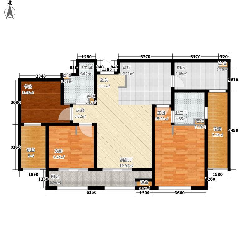 林荫大院117.00㎡17#C5户型3室2厅