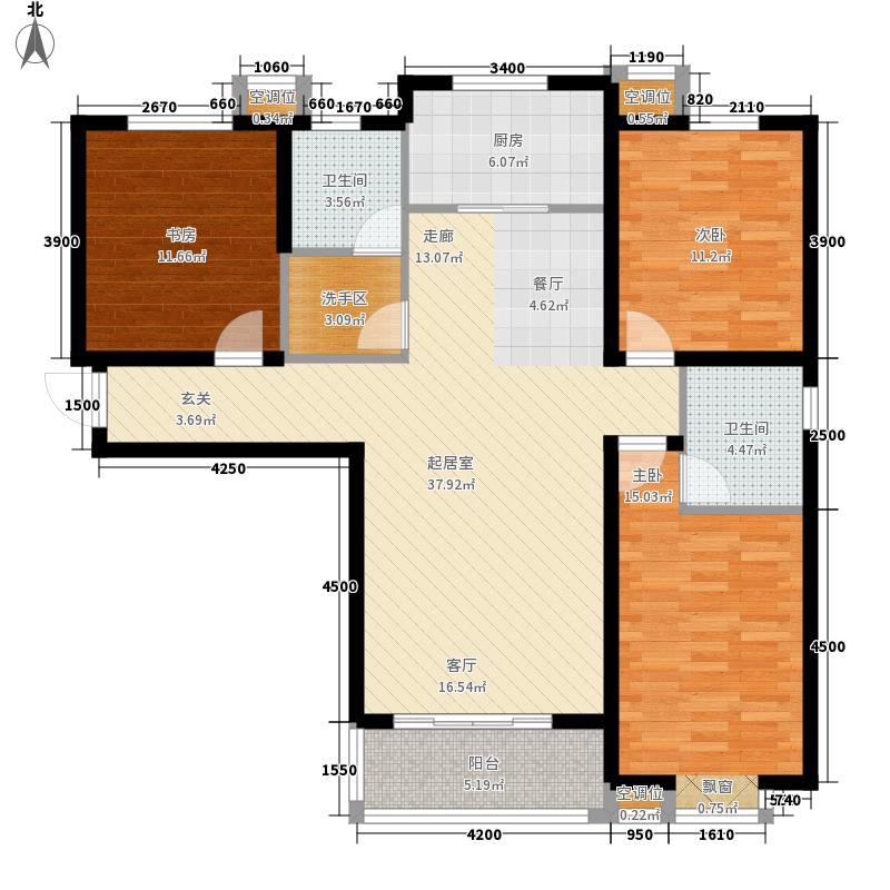 泽润天域133.27㎡1号楼A'户型3室2厅