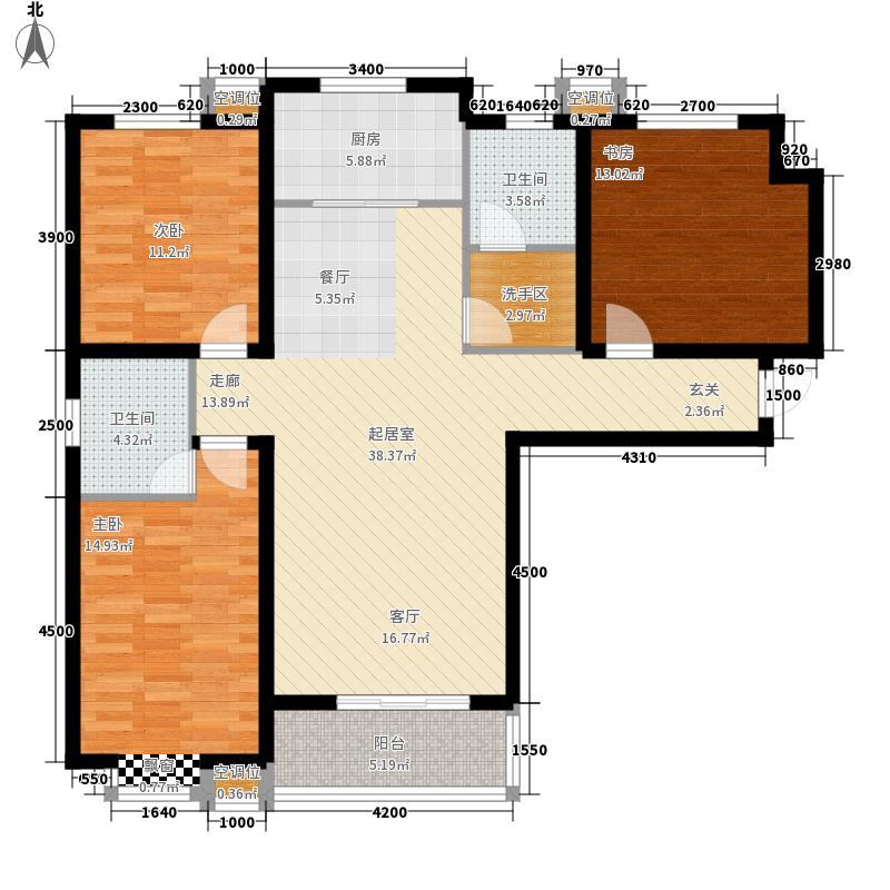 泽润天域134.93㎡1号楼A户型3室2厅