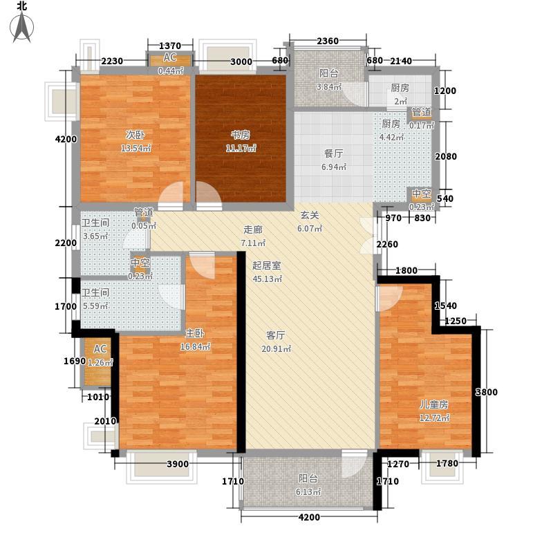 中海城155.03㎡4B标准层面积15503m户型