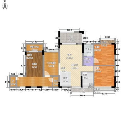 秋谷月半弯2室0厅1卫1厨88.59㎡户型图