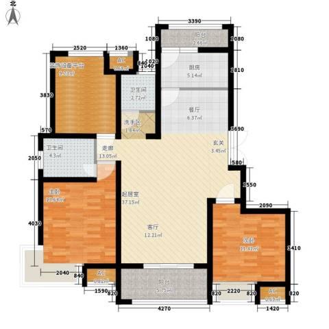 国基城邦2室0厅2卫1厨138.00㎡户型图
