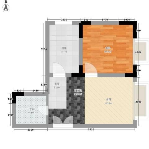 嘉和苑1室0厅1卫1厨40.00㎡户型图