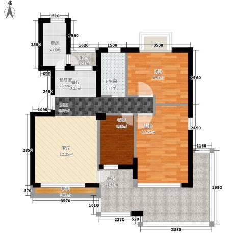 塘坊苑3室0厅1卫1厨78.00㎡户型图