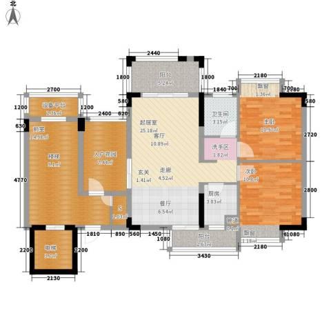 秋谷月半弯2室0厅1卫1厨90.66㎡户型图