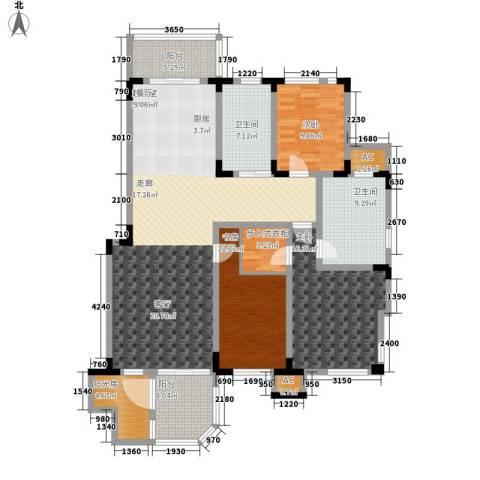 第六大道3室0厅2卫0厨182.00㎡户型图