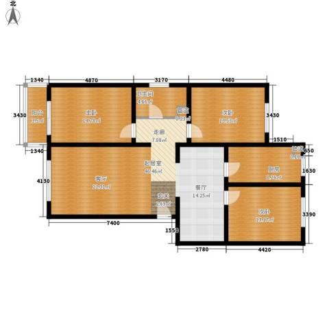 北河新城3室0厅1卫1厨119.00㎡户型图