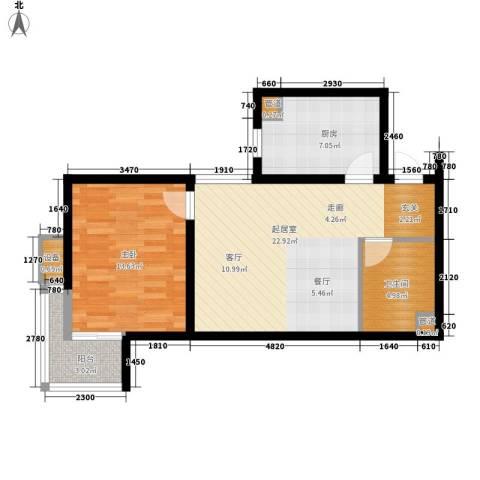 武阳丽园1室0厅1卫1厨76.00㎡户型图