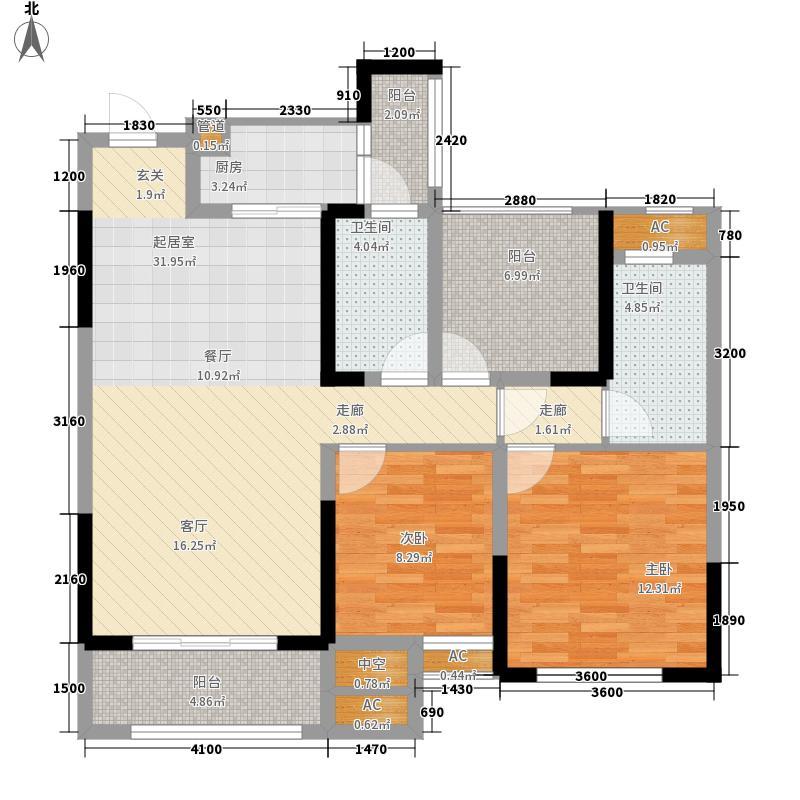 协信星澜汇108.16㎡5#B2户型3室2厅