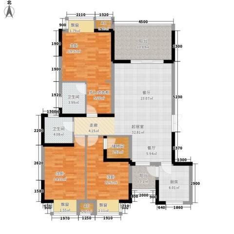 锦江帆影3室0厅2卫1厨130.00㎡户型图