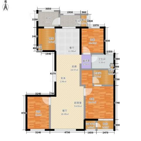 万正广场3室0厅2卫1厨152.00㎡户型图