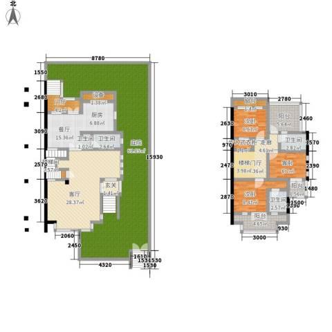 三江尊园3室2厅3卫0厨200.00㎡户型图