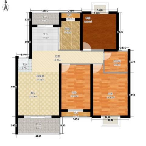 御景庄园3室0厅1卫1厨132.00㎡户型图