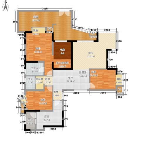 锦江帆影3室0厅2卫1厨152.00㎡户型图