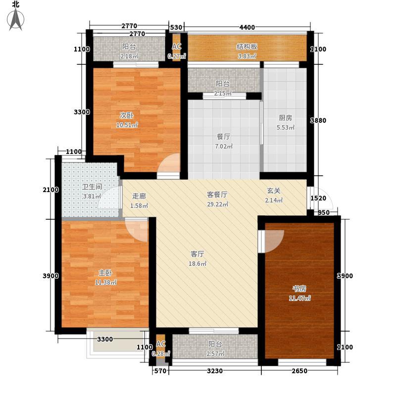 世纪龙庭118.00㎡E31面积11800m户型