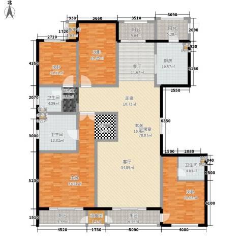 万正广场4室0厅3卫1厨249.18㎡户型图