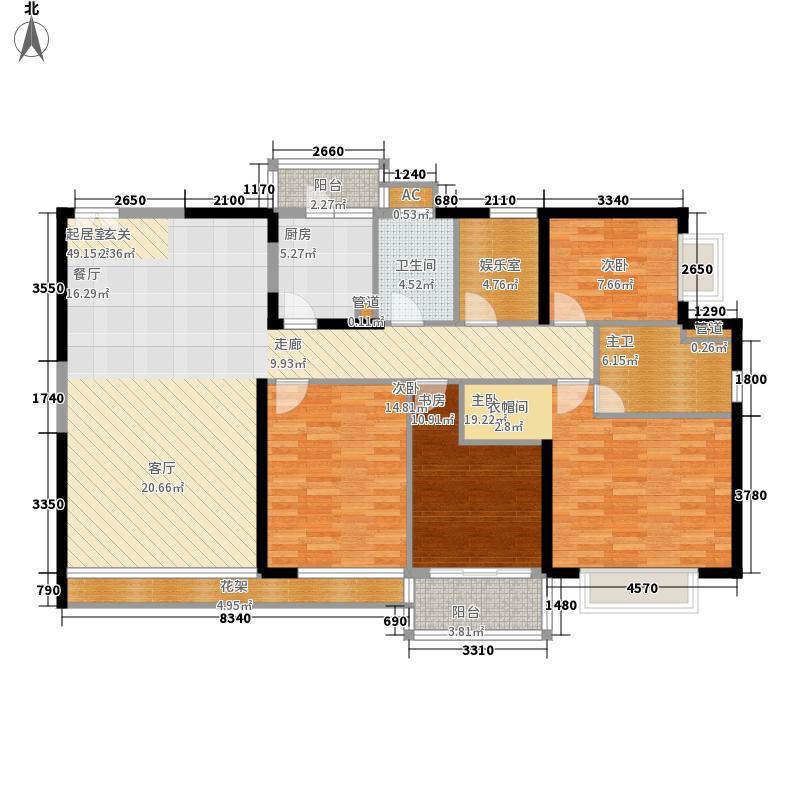 恒虹世纪广场351.54㎡1402复式一楼户型