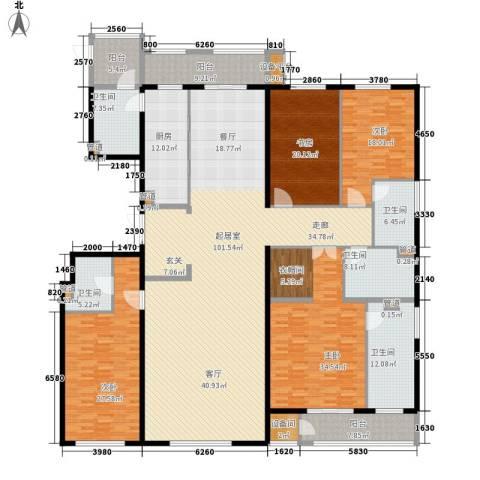 万正广场4室0厅5卫1厨309.02㎡户型图
