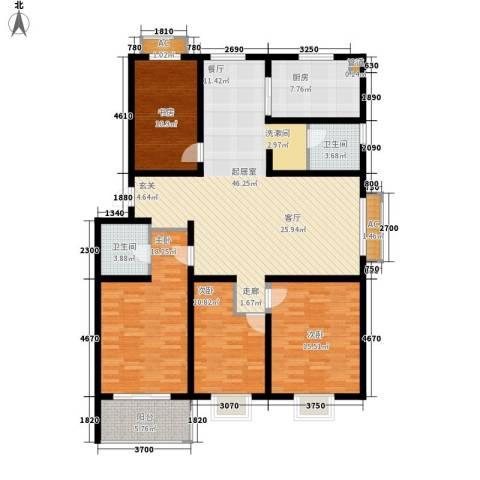 经典雅居4室0厅2卫1厨179.00㎡户型图