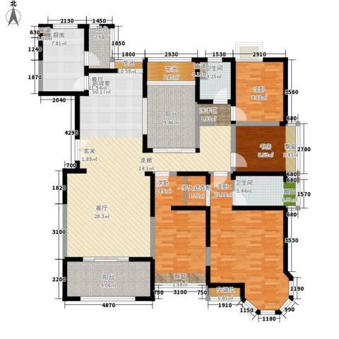 中海万锦城4室0厅2卫1厨173.00㎡户型图