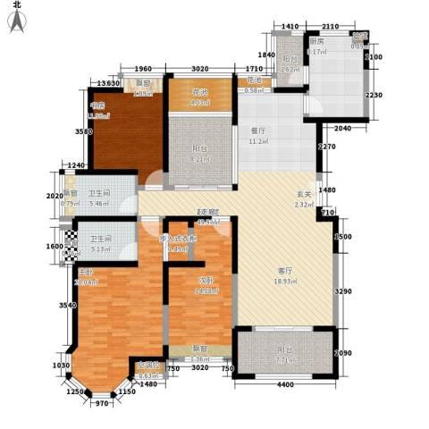 中海万锦城3室0厅2卫1厨154.00㎡户型图