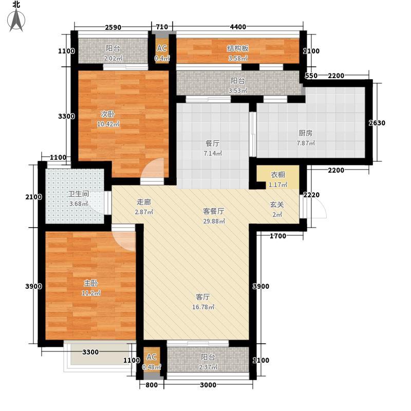 世纪龙庭104.00㎡E21面积10400m户型