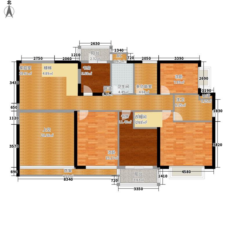 恒虹世纪广场351.54㎡1402复式二楼户型