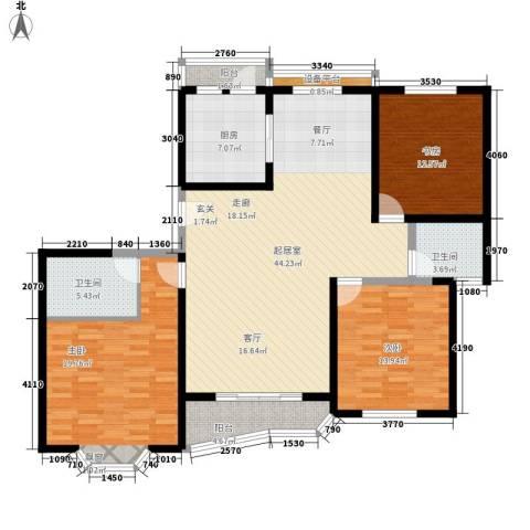 上海未来黄山新城3室0厅2卫1厨132.00㎡户型图