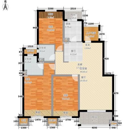 保利湖畔阳光苑3室0厅2卫1厨146.00㎡户型图