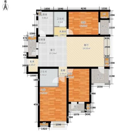 8哩岛3室0厅2卫1厨132.00㎡户型图