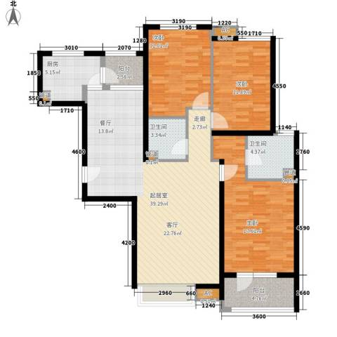 8哩岛3室0厅2卫1厨135.00㎡户型图