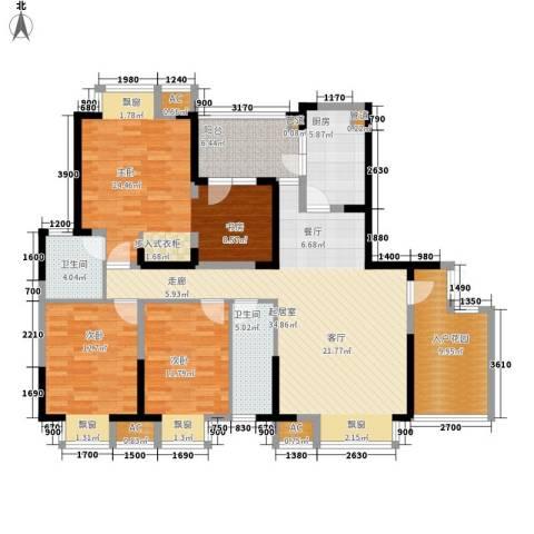 锦江帆影3室0厅2卫1厨139.00㎡户型图