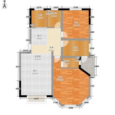 绿茵港湾3室0厅2卫1厨132.00㎡户型图