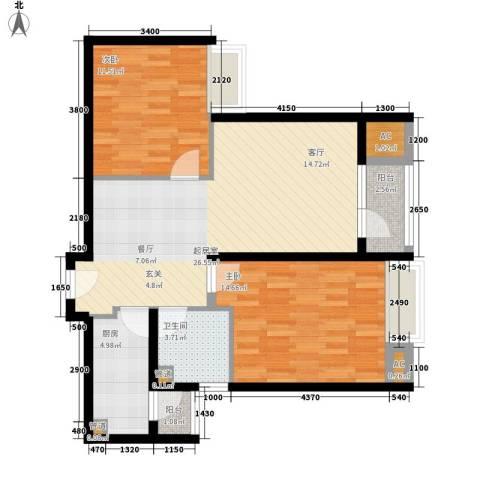 8哩岛2室0厅1卫1厨86.00㎡户型图