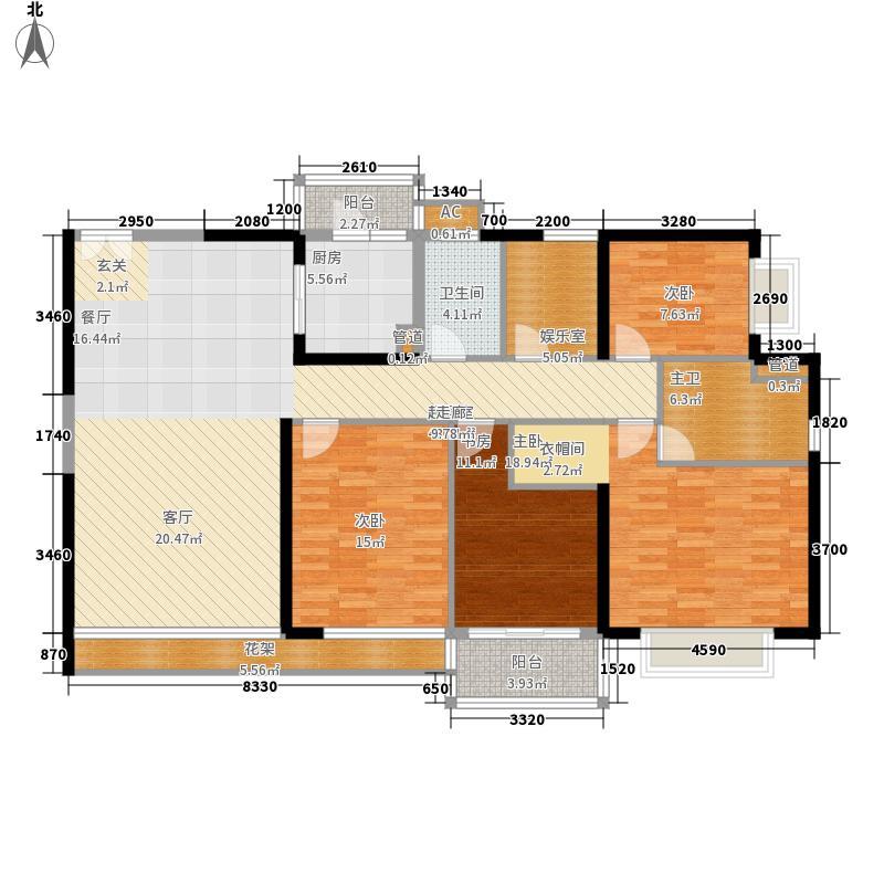 恒虹世纪广场189.07㎡02户型5室2厅
