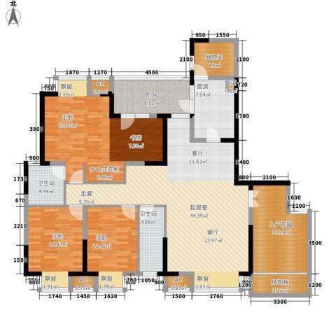 锦江帆影3室0厅2卫1厨162.00㎡户型图